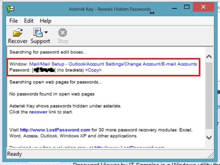 how to find out my outlook password