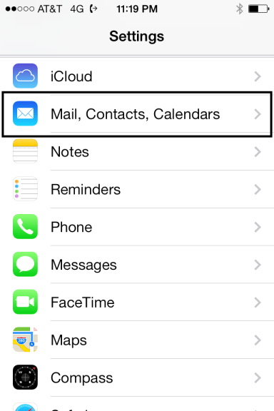 Mail Contacts Calendar