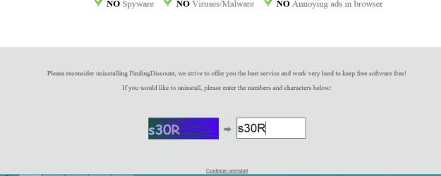 Finding Discount Uninstall Code