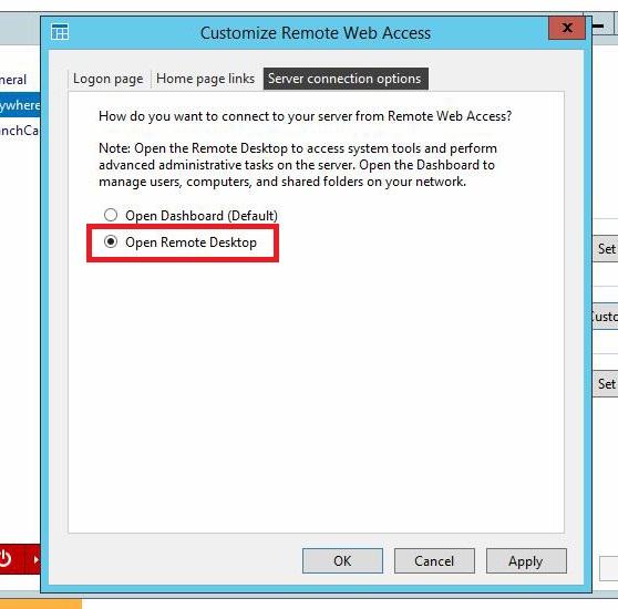 Open Remote Desktop