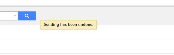 Gmail Sending Email Undone