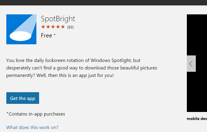Windows 10 SpotBright