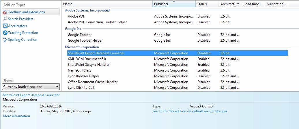 Internet Explorer 11 Crashes When Loading SharePoint Online