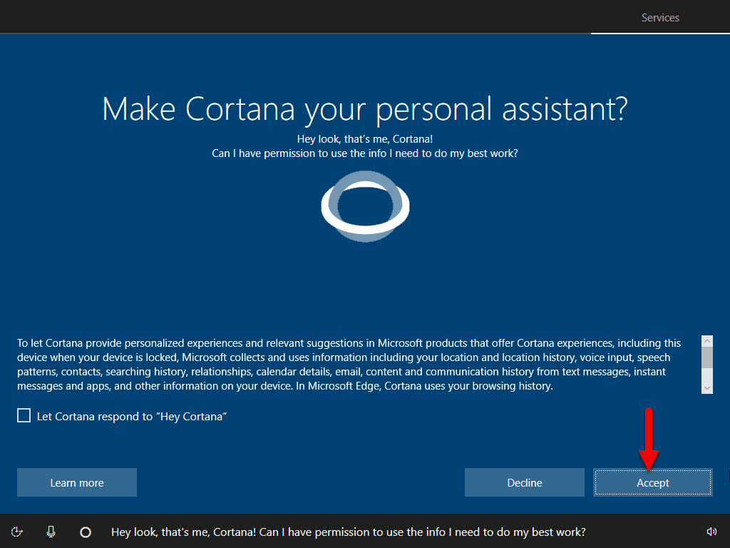 Make Cortana personal assistant