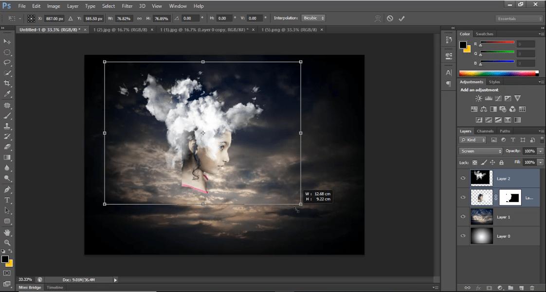 Cloud replacing