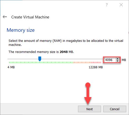Select Memory Size