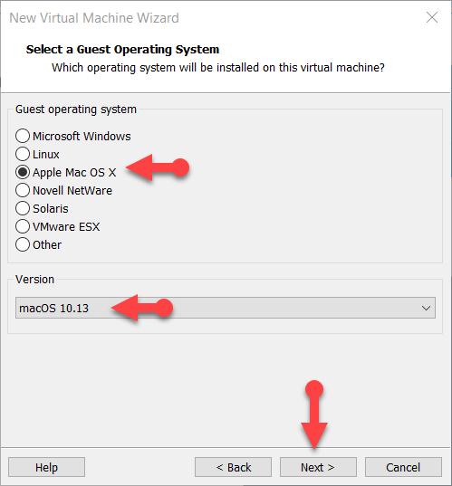Select Mac OS X