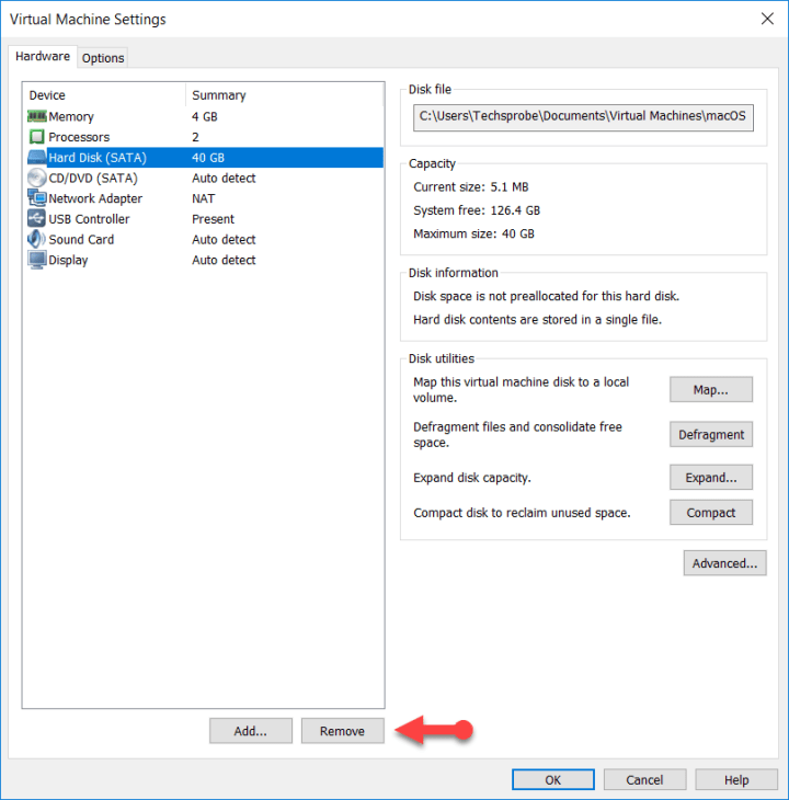 Remove Hard disk