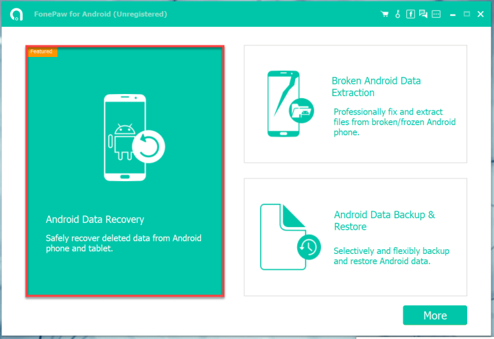 Select the recovery method