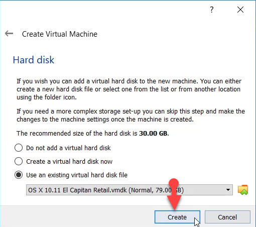 Create a virtual machine now