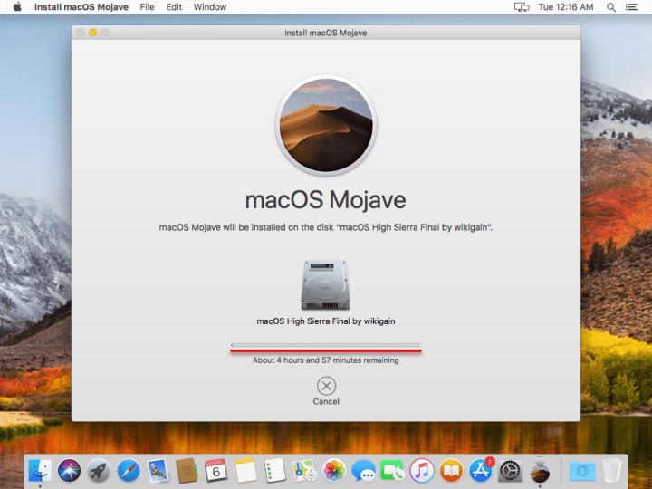 MacOS Mojave installation