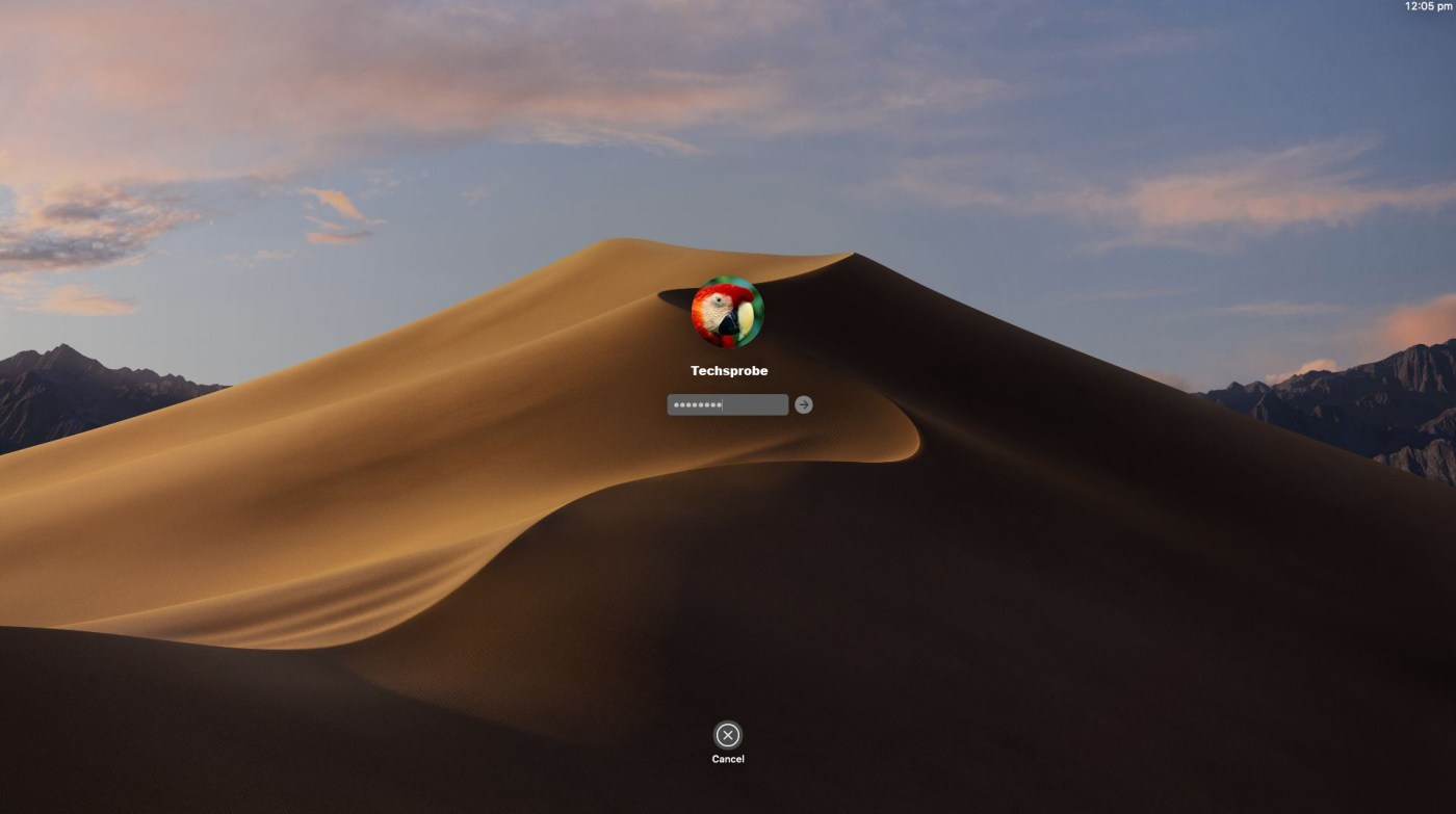 Sign into Mojave