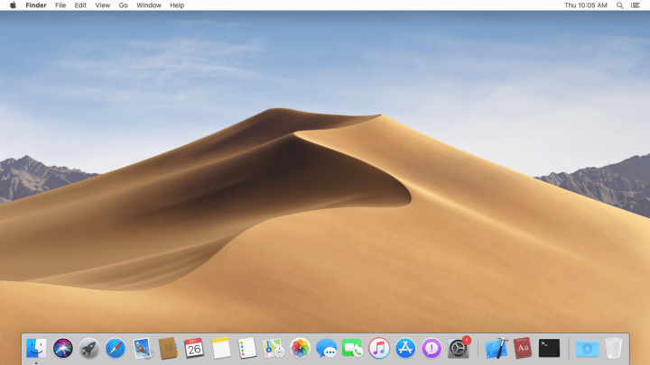 macOS Mojave full-screen
