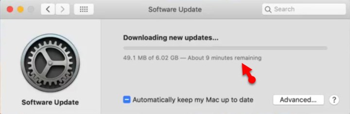 MacOS Mojave downloading process