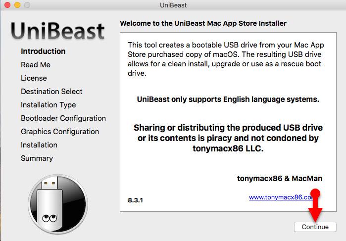 Welcome to Unibeast Mac App Installer