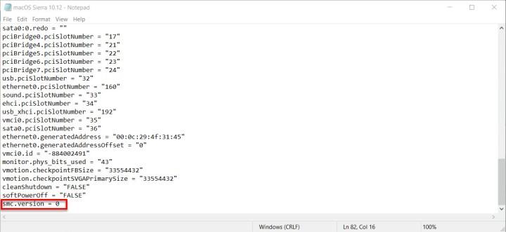 VMX code
