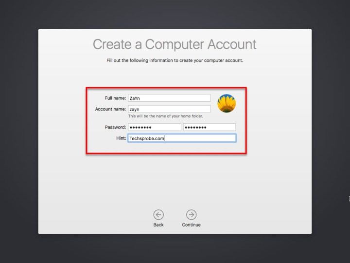 Create a computer account