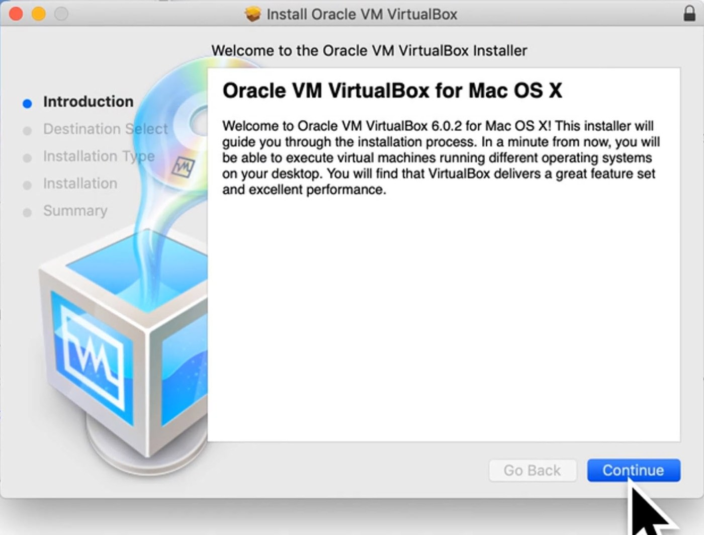 Oracle VM for MacOS