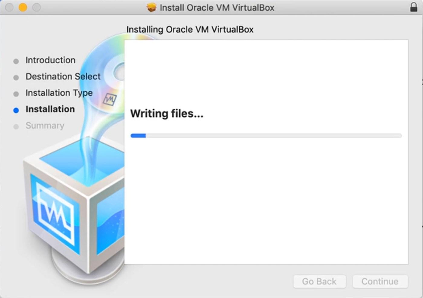 Installing VM Oracle VirtualBox