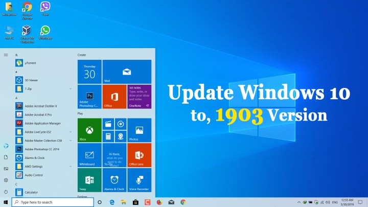 How to Update to Windows 10, 1903 Version May 2019
