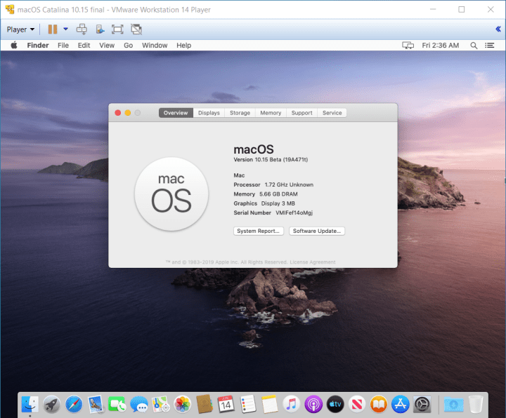 How to Install macOS Catalina on VMware on Windows 10 PC