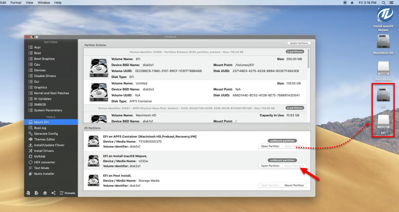 EFI install macOS