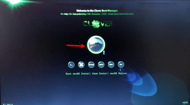 Boot macOS Mojave install