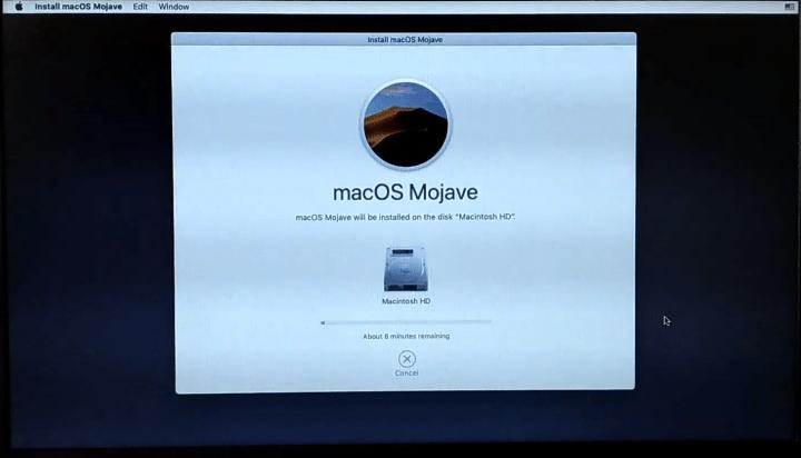 installing macOS Mojave