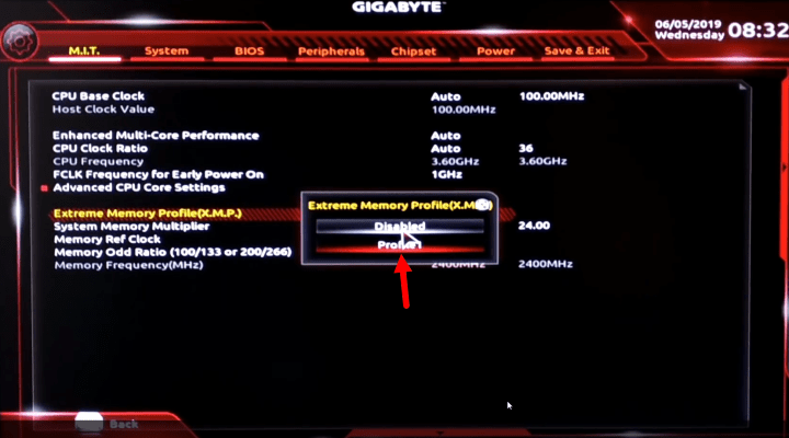 Extreme memory profile