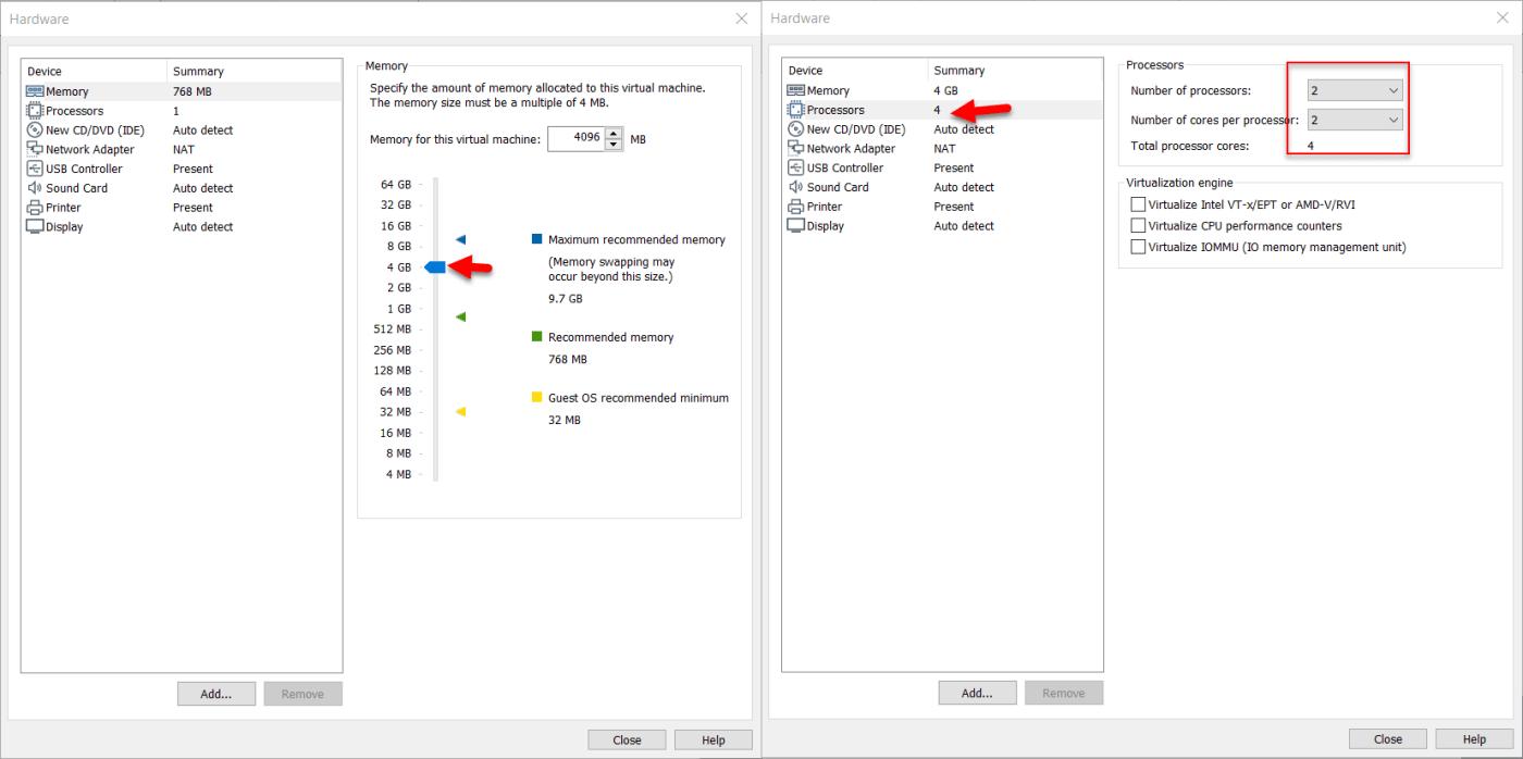 Memory, processors