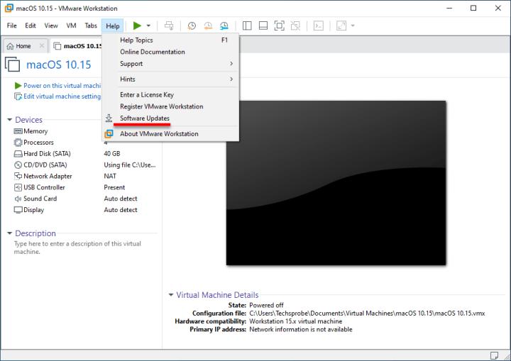 Update VMware Workstation