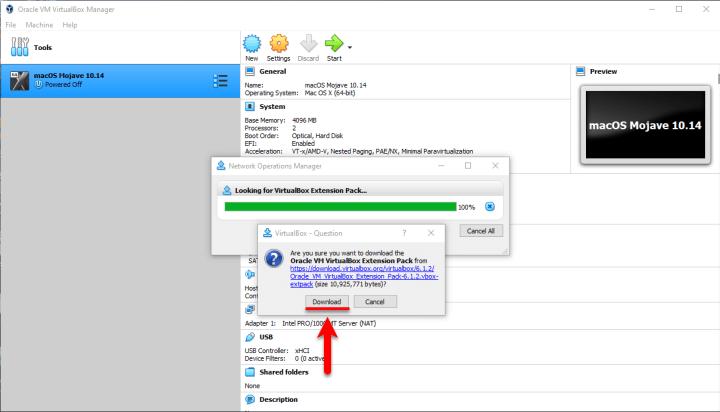 Install VM Extension Pack