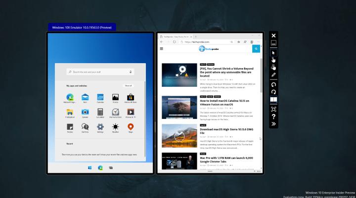 Installed Microsoft Windows 10X Emulator