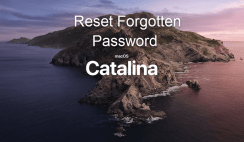 How to Reset Forgotten Password of macOS Catalina & Mojave