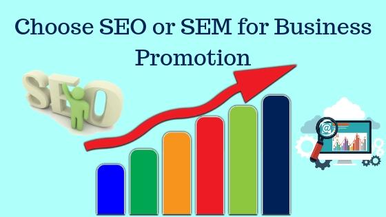 Choose SEO or SEM for Business Promotion