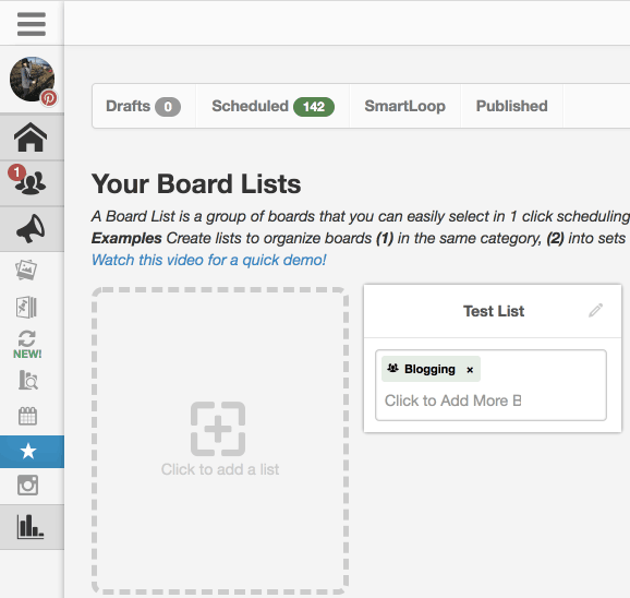 create tailwind board list Pinterest group board easy