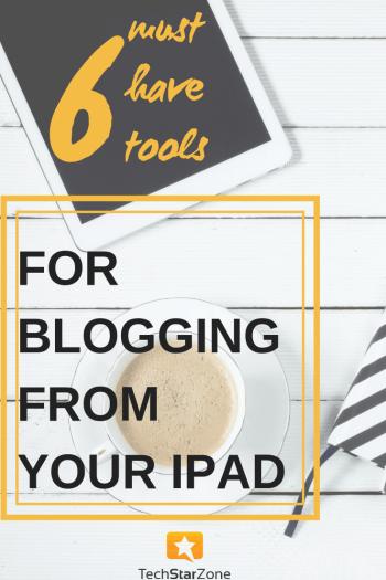 blog from iPad social media productivity