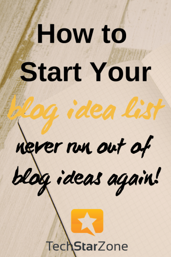 get blog content idea list content marketing