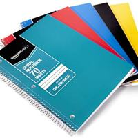 AmazonBasics College Ruled Wirebound Notebook, 5-Pack