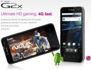 T-Mobile LG G2X Features Specifications