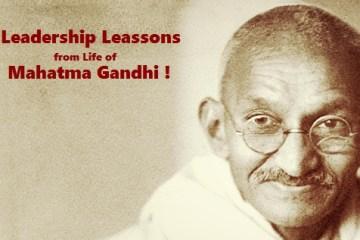 leadership lessons from mahatma gandhi