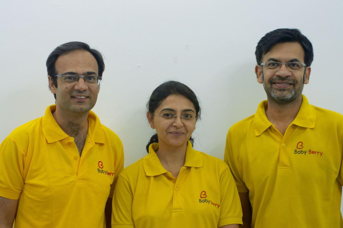 L-R - Dev Vig, Subhashini Subramaniam_balasubramanian Venkatachalam_Founders BabyBerry.in
