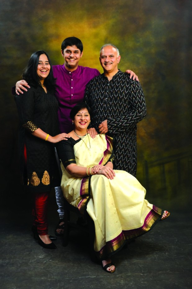 Mr. Anand Deshpande with his family