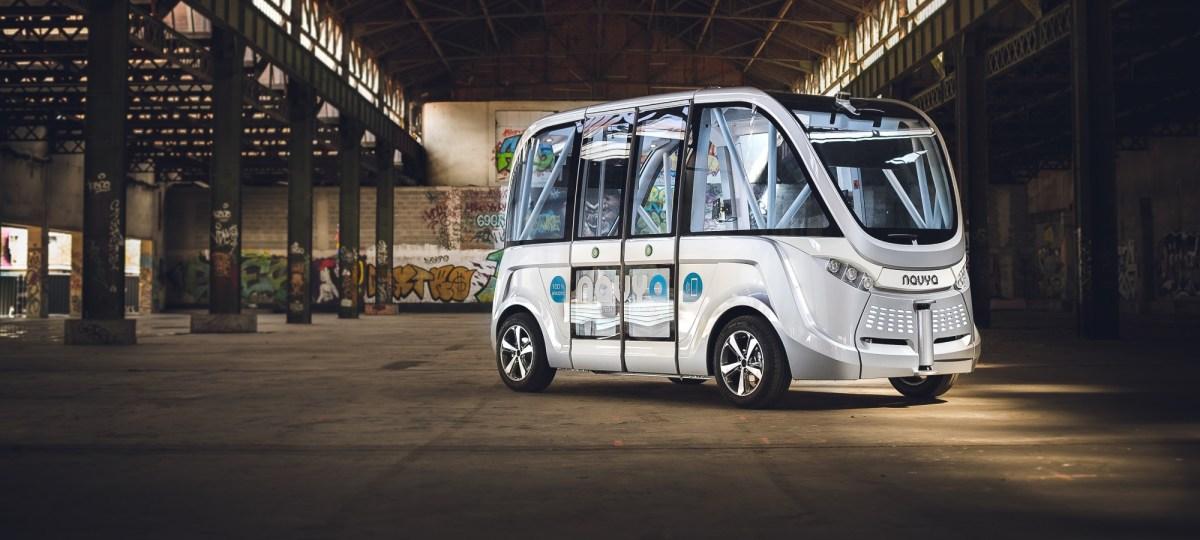 driverless shuttle navya