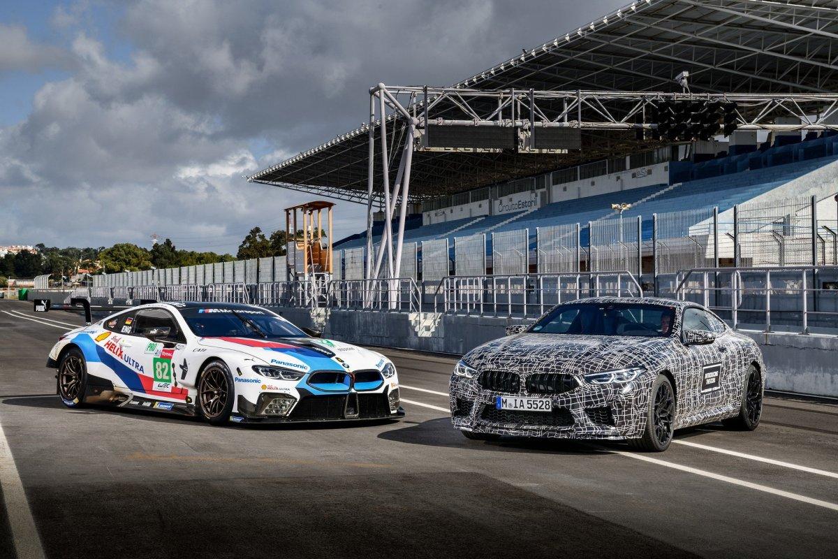 BMW M8 track testing