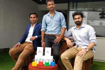 Left- Gotama Gowda (CEO), Center- Rajshekar Jenne (CMO), Right- Siddhesh Keluskar (CTO)