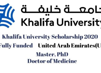 Khalifa University Scholarship 2020