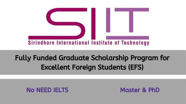 SIIT Scholarship 2021 Thailand (Fully Funded) | Masters & PhD
