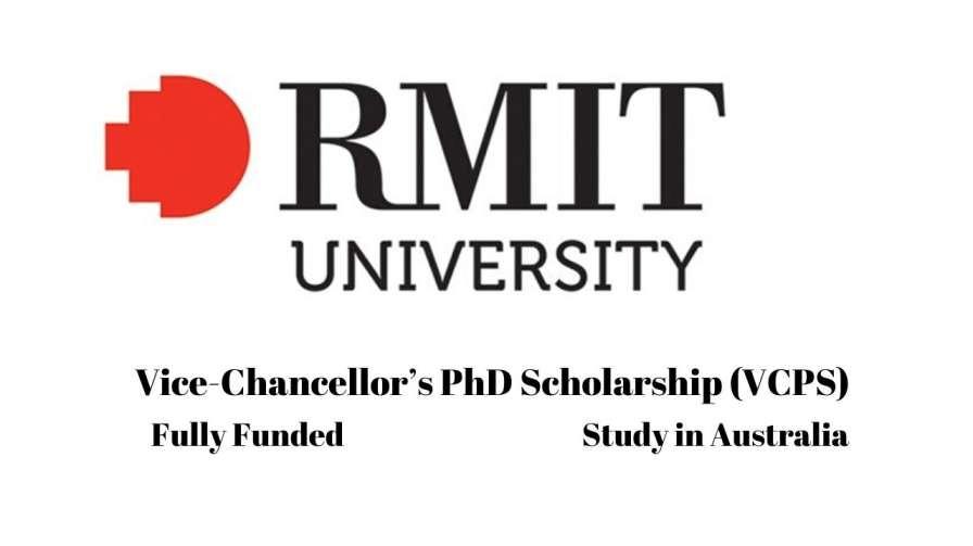 Vice-Chancellor PhD Scholarship at RMIT University, Australia