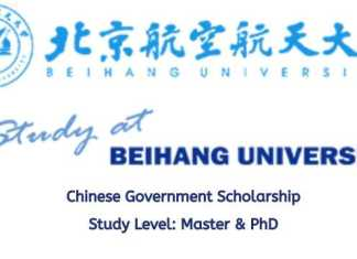 Beihang University China CSC Scholarship